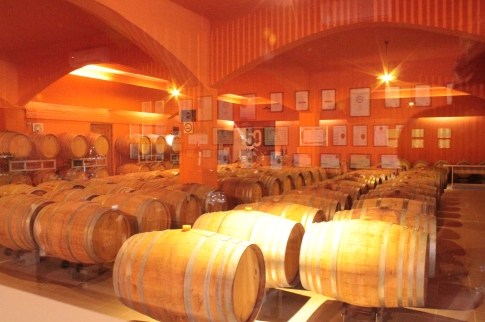 Wines kept in barrels