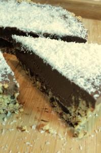 Vegan chocolate tart